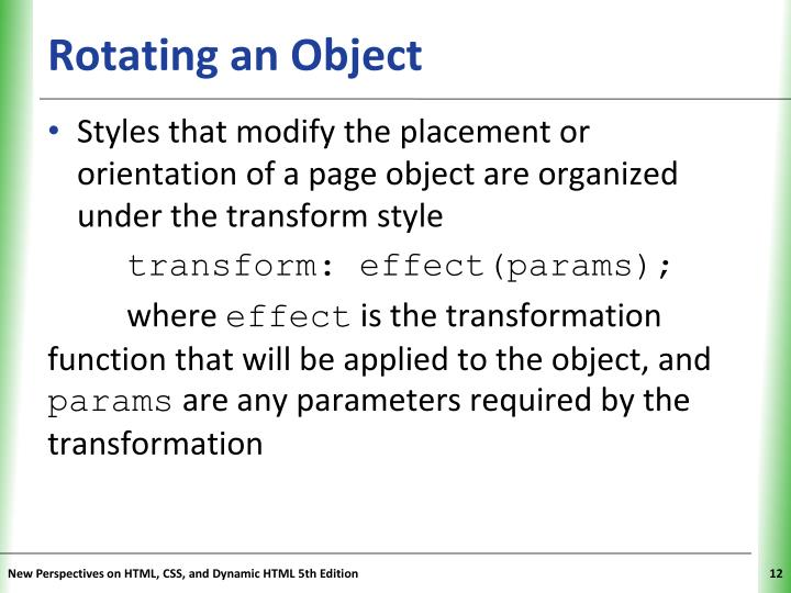 Rotating an Object