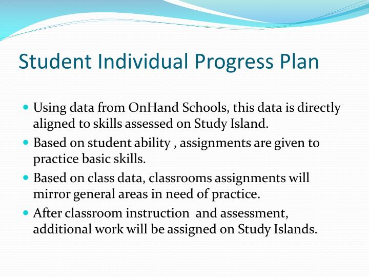 Student Individual Progress Plan