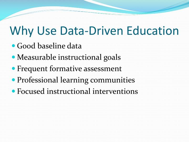 Why Use Data-Driven Education