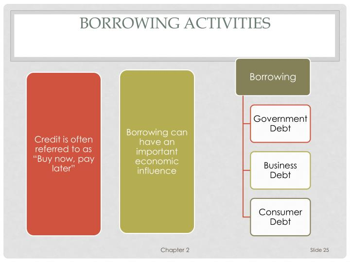 Borrowing activities