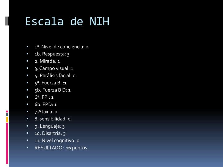 Escala de NIH