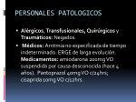 personales patologicos