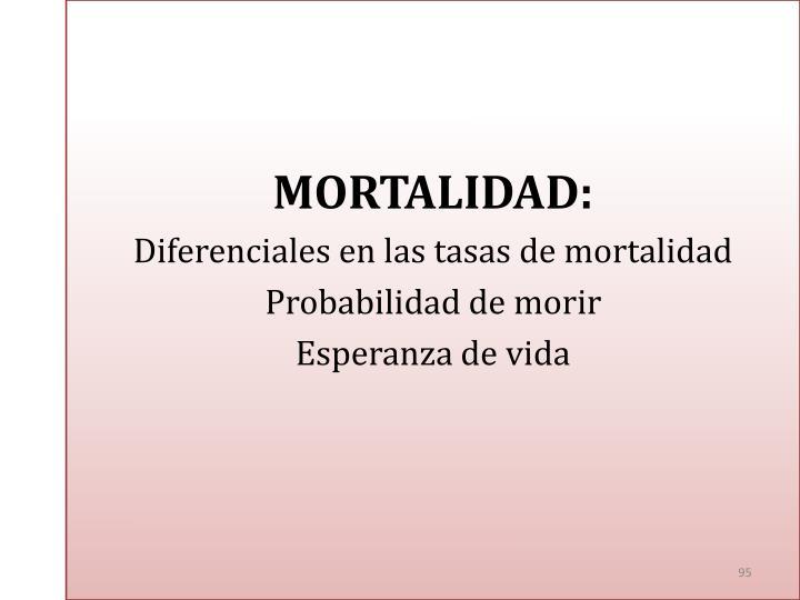 MORTALIDAD: