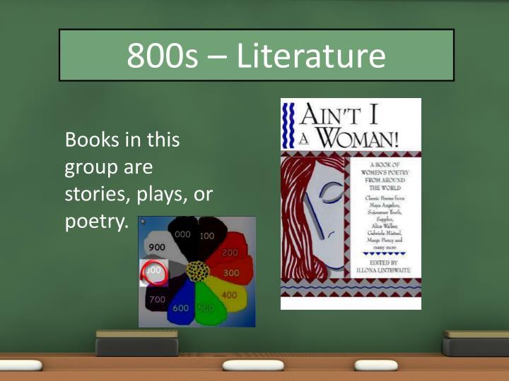 800s – Literature