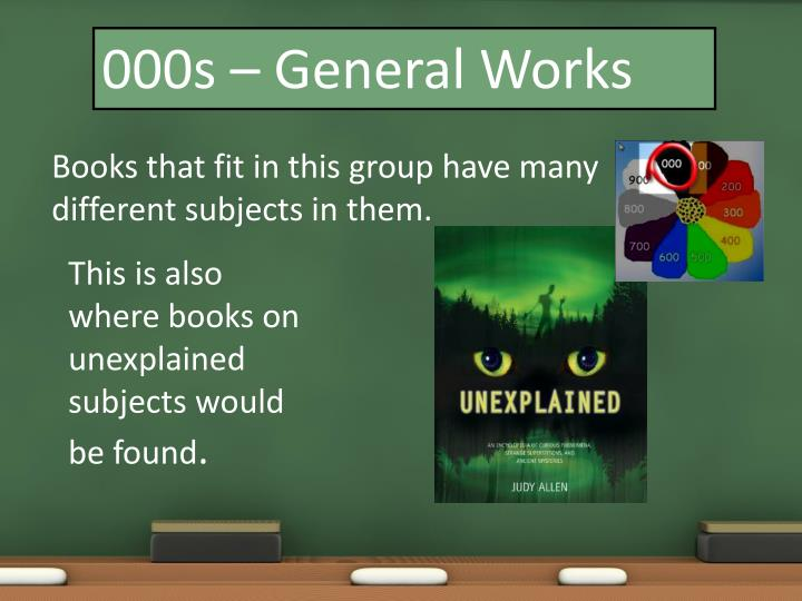 000s – General Works