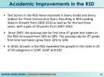 academic improvements in the rsd
