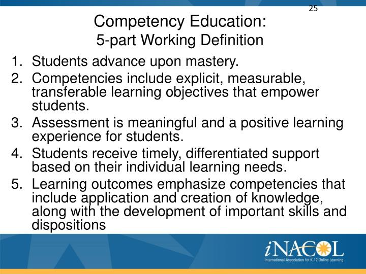 Competency Education: