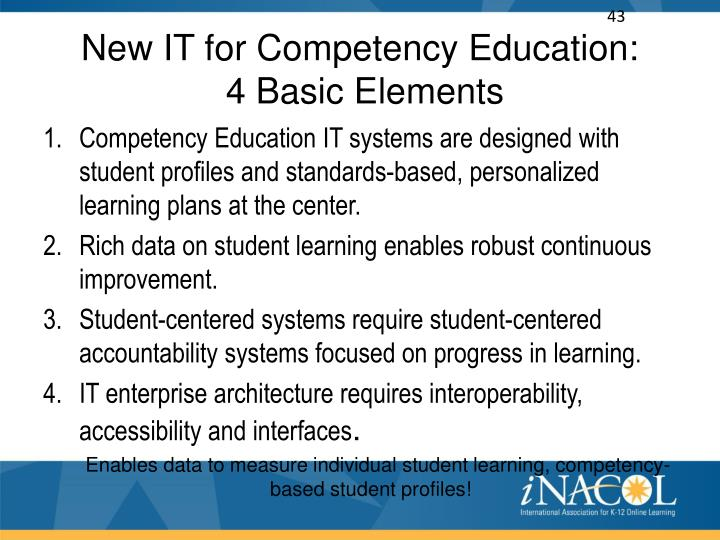 New IT for Competency Education: