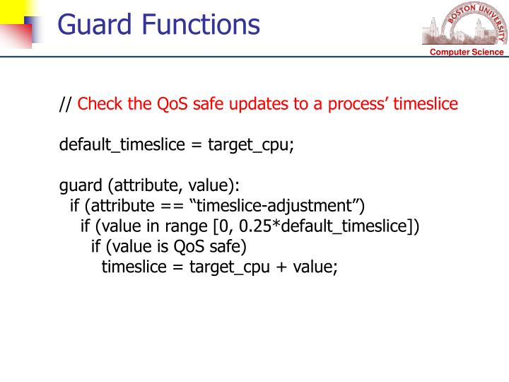 Guard Functions