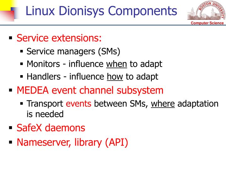 Linux Dionisys Components