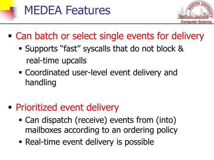 MEDEA Features