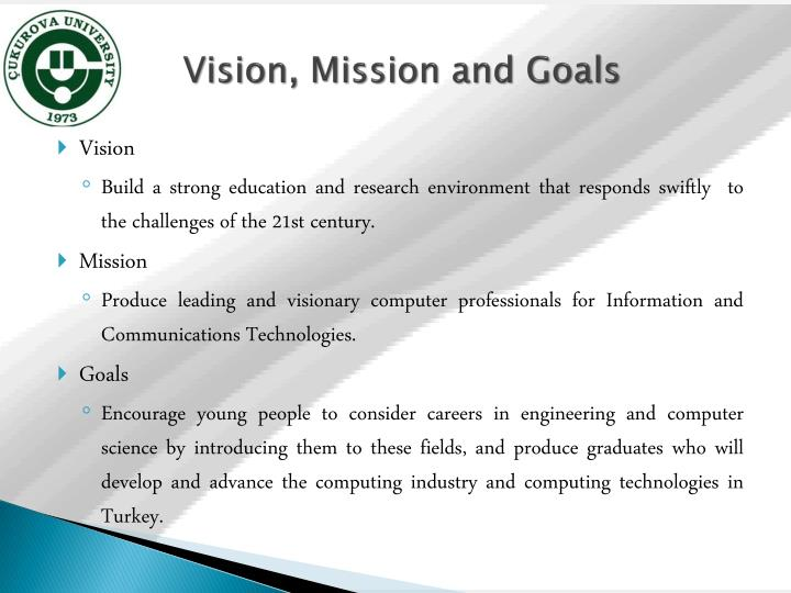 Vision mission and goals