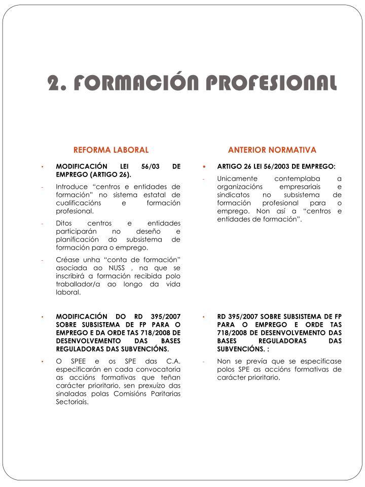 2. FORMACIÓN PROFESIONAL