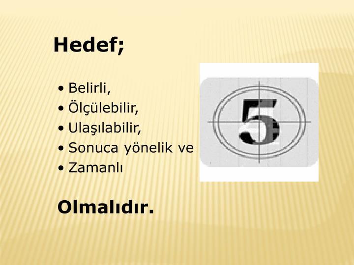 Hedef;