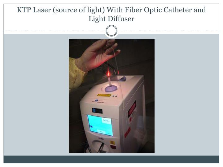 KTP Laser (source of light) With Fiber Optic Catheter and Light Diffuser