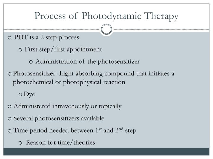 Process of Photodynamic Therapy