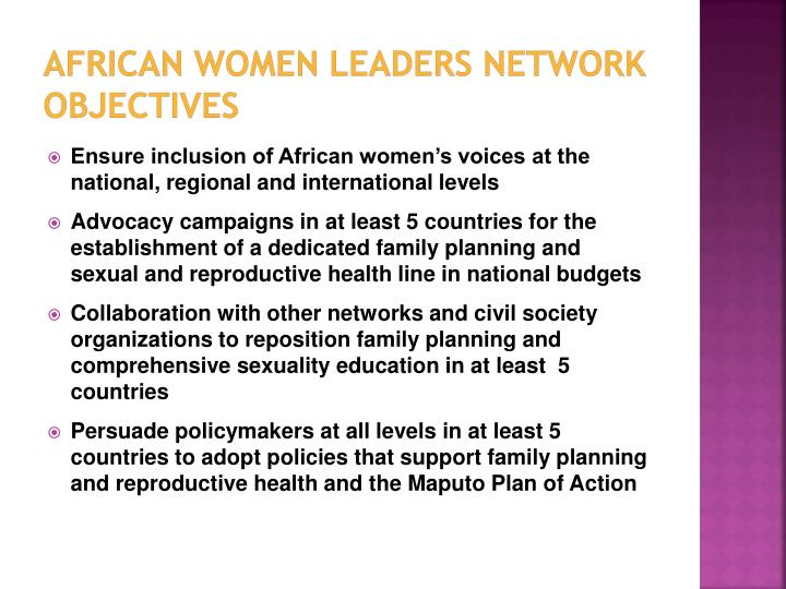 African women leaders network objectives