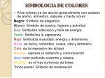 simbologia de colores