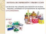 sistema de impresi n y produccion
