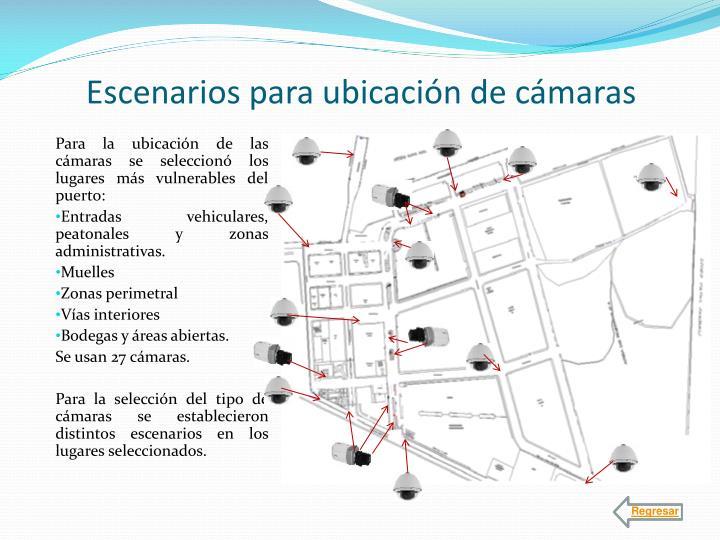 Escenarios para ubicación de cámaras