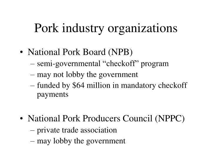 Pork industry organizations