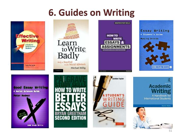 6. Guides on Writing