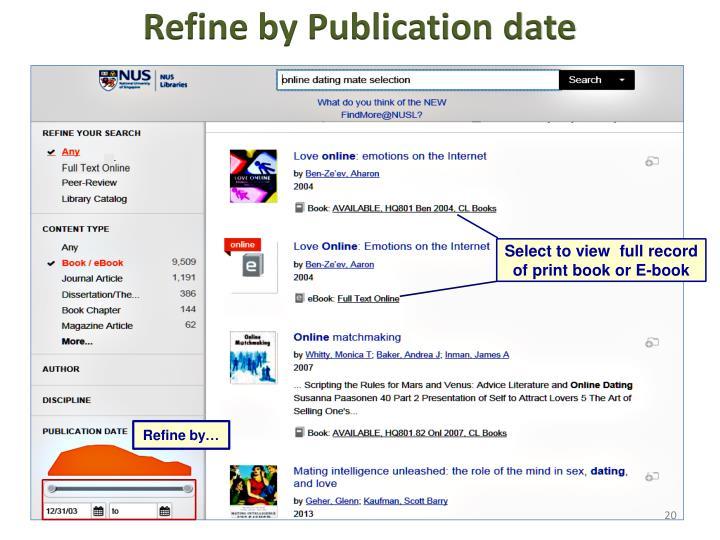 Refine by Publication date