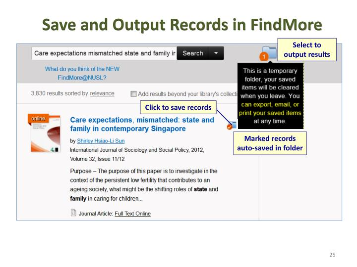 Save and Output Records in FindMore