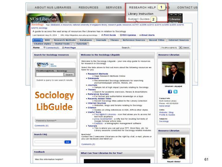 Sociology LibGuide