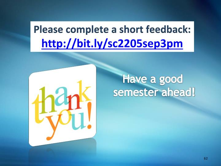 Please complete a short feedback: