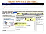 today s ppt file exercises