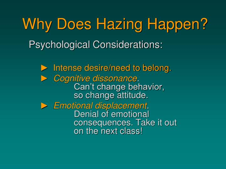 Why Does Hazing Happen?