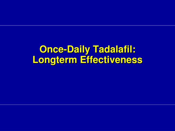 Once-Daily Tadalafil: