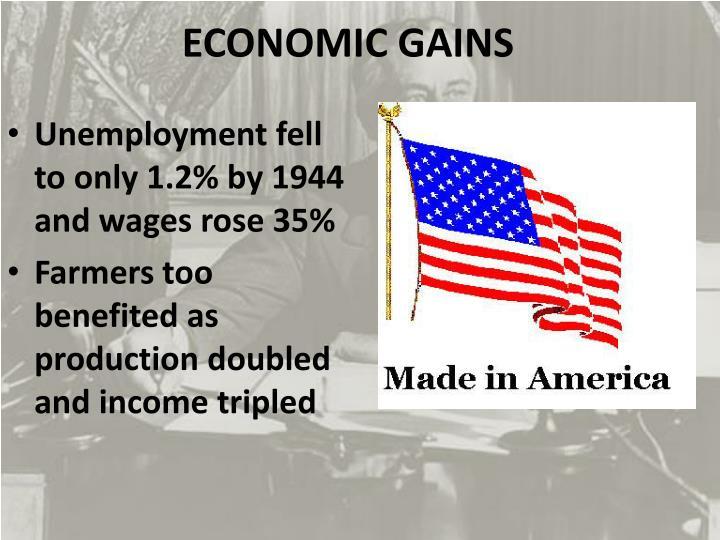 ECONOMIC GAINS