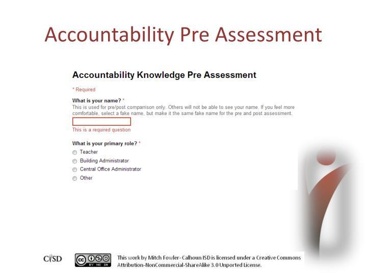 Accountability Pre Assessment