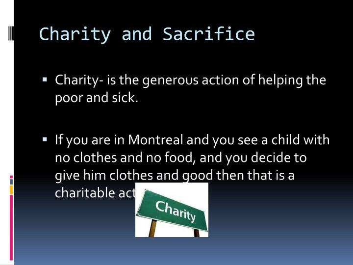 Charity and Sacrifice