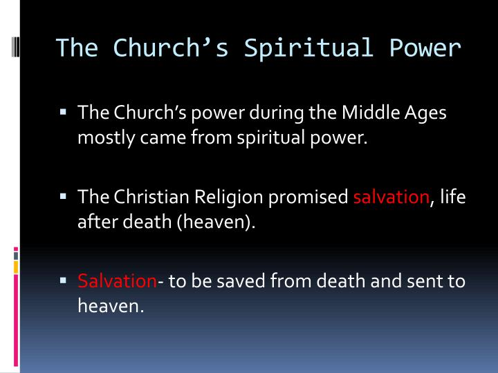 The Church's Spiritual Power