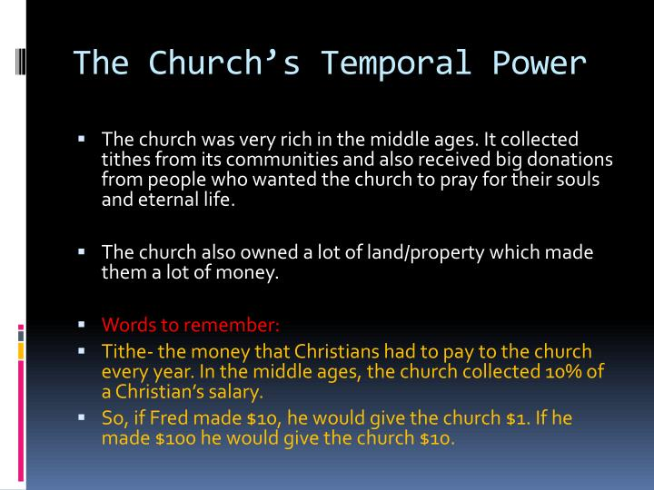 The Church's Temporal Power