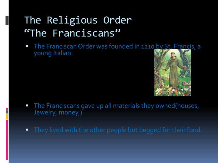 The Religious Order