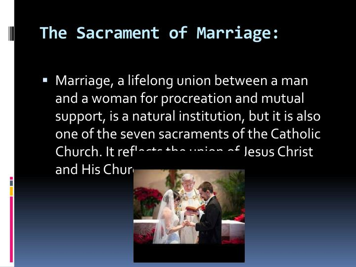 The Sacrament of Marriage: