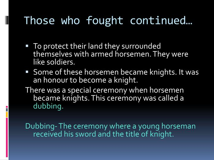 Those who fought continued…