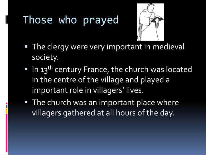 Those who prayed