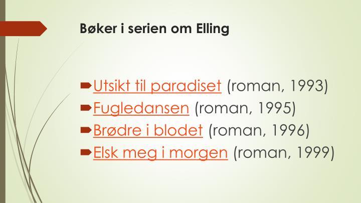 Bøker i serien om Elling