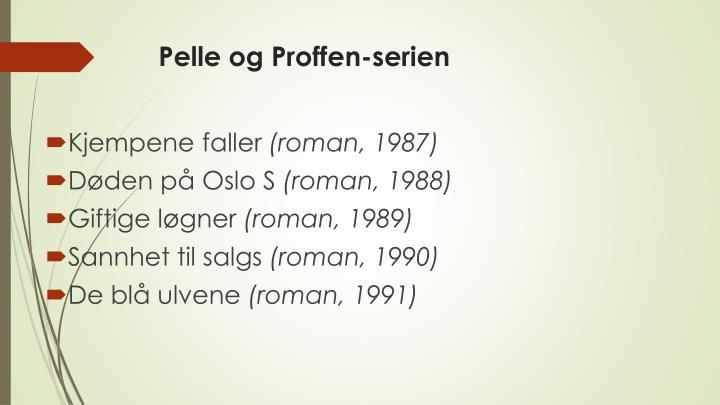 Pelle og Proffen-serien