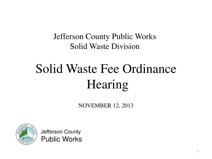 Jefferson County Public Works