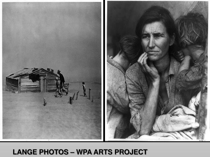 LANGE PHOTOS – WPA ARTS PROJECT