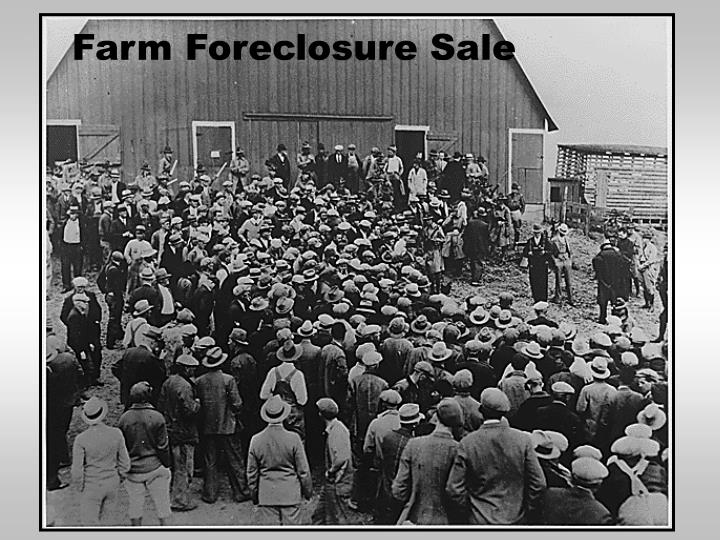 Farm Foreclosure Sale