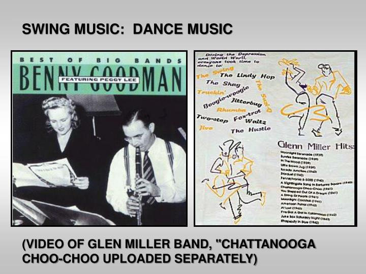 SWING MUSIC:  DANCE MUSIC
