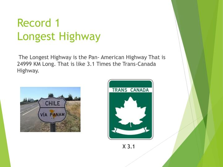Record 1 longest highway