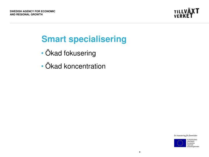 Smart specialisering